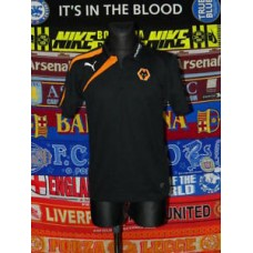 5/5 Wolverhampton Wanderers adults M MINT polo football shirt jersey trikot
