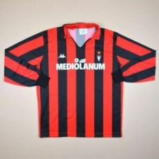 AC MILAN ITALY 1989/1990 HOME FOOTBALL SHIRT JERSEY KAPPA VINTAGE LONG SLEEVE