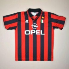 AC MILAN ITALY 1996/1997 HOME FOOTBALL SHIRT JERSEY LOTTO VINTAGE SIZE M ADULT