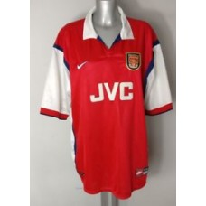 ARSENAL FC JVC NIKE RED WHITE VINTAGE MENS HOME RETRO SHIRT SIZE XXL UK 47/48