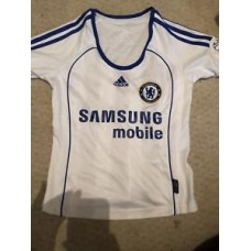 Adidas Women's Chelsea Away Shirt White Retro 8