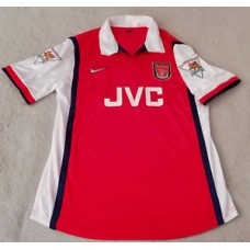 Arsenal FC 1998/99 Denis Bergkamp Home Jersey, Classic Retro Size XL (A1 Cond)