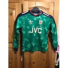 Arsenal Retro Football Shirt 1990/91 Size 30-32 CHILD