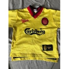 Liverpool Fc Away shirt 97/98 reebok carlsberg vintage retro Football - Owen 18