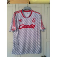 Liverpool Retro Grey Candy 1989 1990 1991 Away Shirt NEW VINTAGE SIZE SMALL NEW