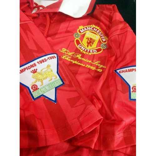 b4ab6ebc261 Manchester United 1992-1994 LEAGUE WINNER Soccer Jersey Football Shirt S M  L XL