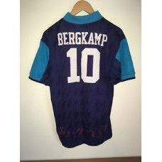 Mens Vintage Retro Bergkamp Arsenal Jersey Football Shirt, Size L