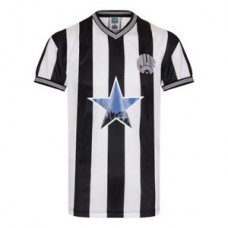 Newcastle United FC Official Football Gift Mens 1984 Retro Home Kit Shirt
