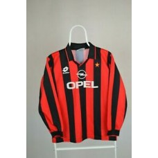 RARE AC MILAN 1994/1995 HOME FOOTBALL SHIRT LOTTO VINTAGE RETRO SIZE XC