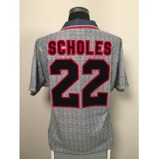 reputable site a814f 01ce2 SCHOLES #22 Manchester United Away Football Shirt Jersey ...