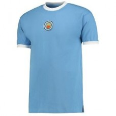 Score Draw Retro Mens Football Soccer Manchester City 1970 No8 Shirt Jersey Top