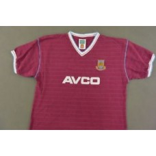 Score Draw West Ham United Home Retro HAMMERS Shirt 1986 SIZE XL (adults)