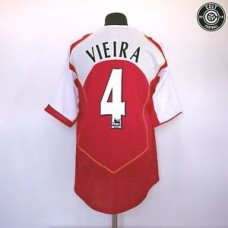VIEIRA #4 Arsenal Nike Vintage Retro Home Football Shirt Jersey 2004/06 (XL)