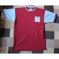 WEST HAM UNITED FC 'Score Draw' Home SHIRT 1960-1966 (Medium M) RETRO Moore